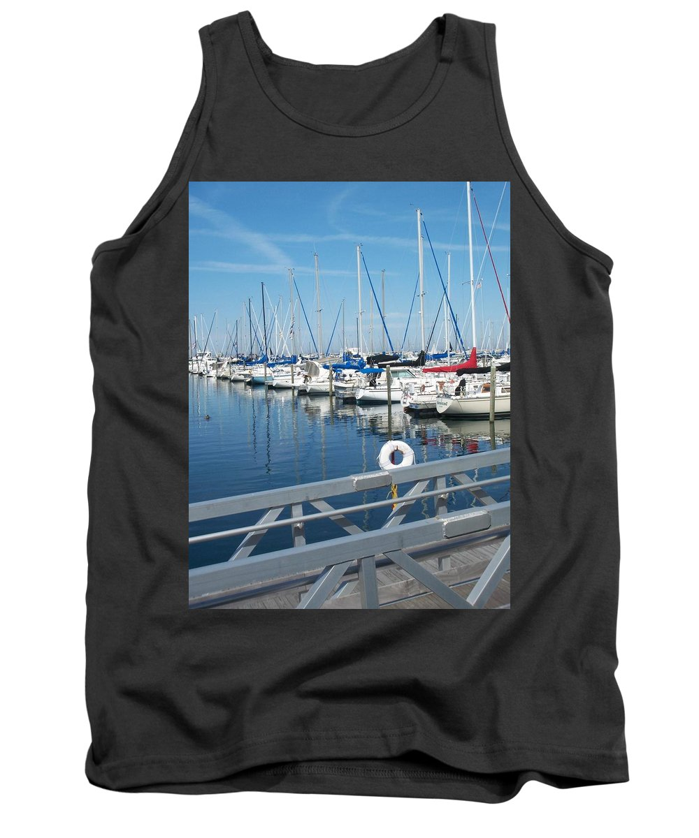 Mckinley Marina Tank Top featuring the photograph Mckinley Marina 5 by Anita Burgermeister
