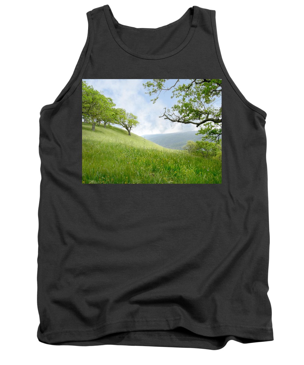 Landscape Tank Top featuring the photograph Meadow View Spring by Karen W Meyer
