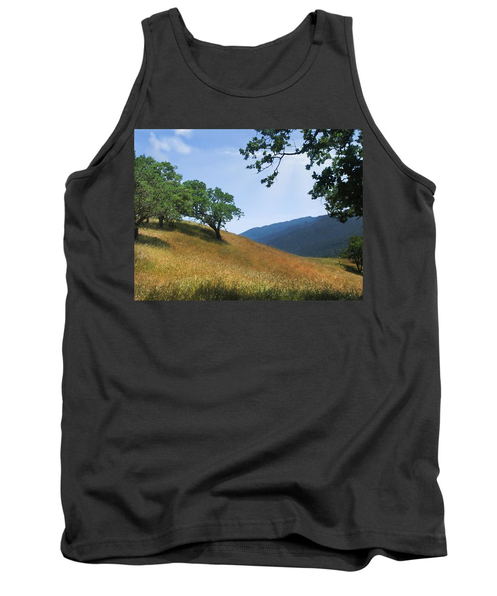 Landscape Tank Top featuring the photograph Meadow View Summer by Karen W Meyer