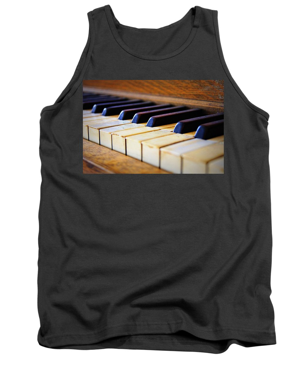 Piano Tank Top featuring the photograph Melodies And Memories by Cricket Hackmann