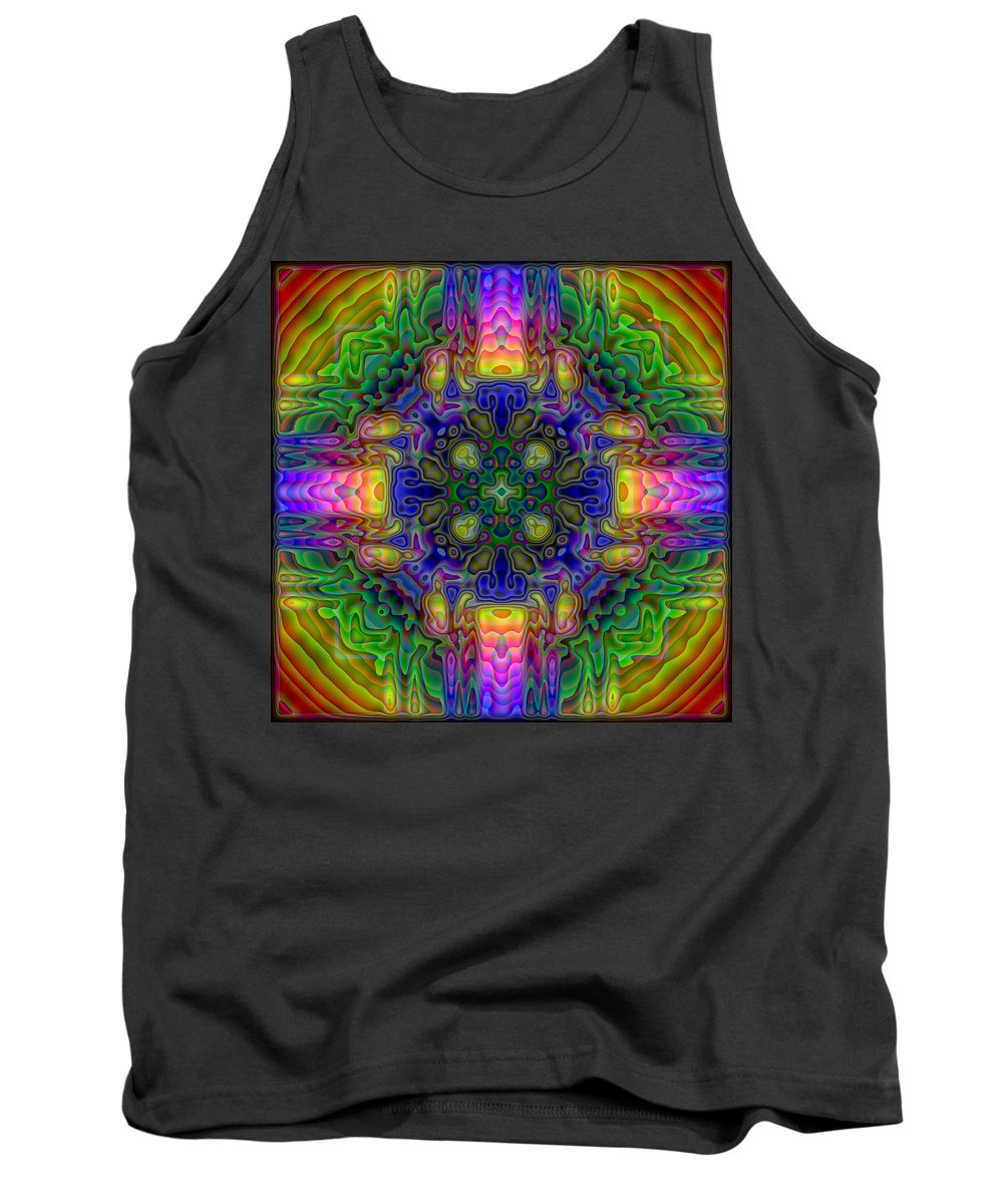 Kaleidoscope Tank Top featuring the digital art Melted by Lyle Hatch