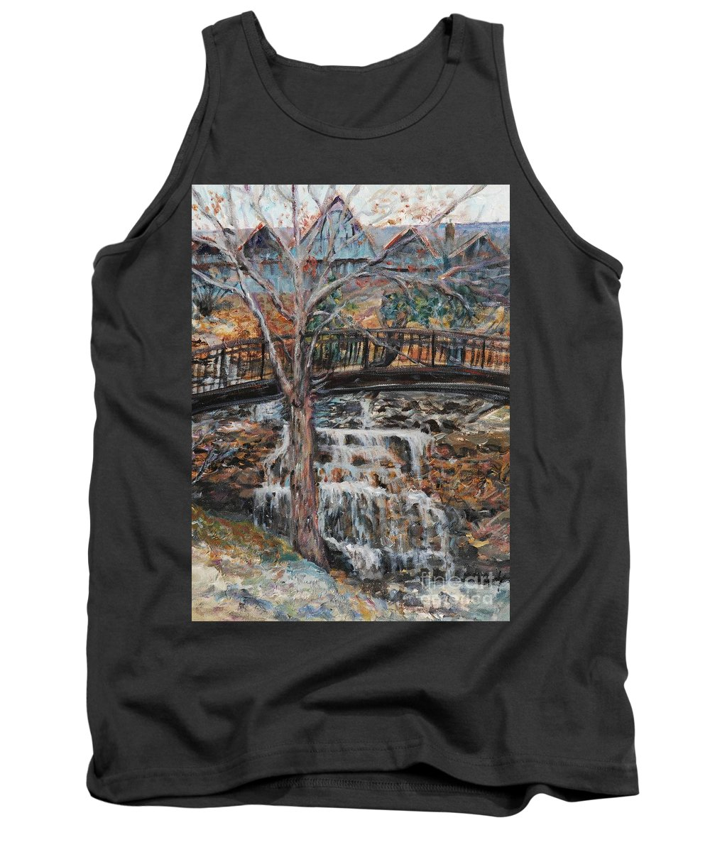 Waterfalls Tank Top featuring the painting Memories by Nadine Rippelmeyer