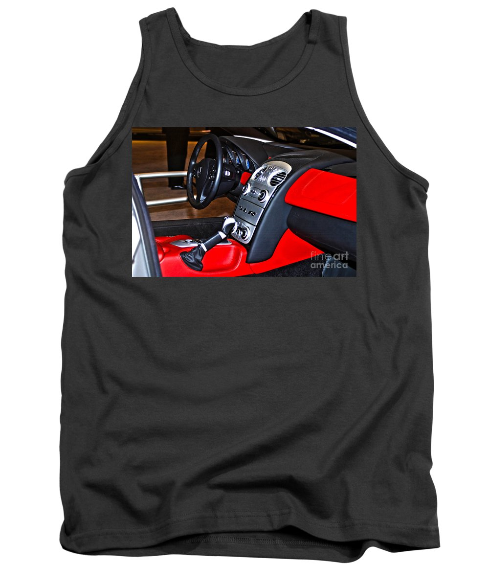 Car Tank Top featuring the photograph Mercedes Slr Concept Car Interior by Alan Look
