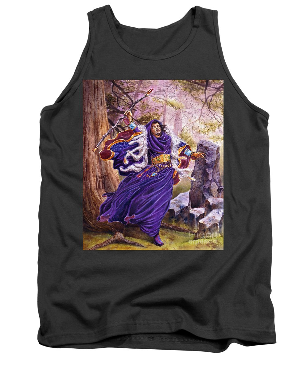 Artwork Tank Top featuring the painting Merlin by Melissa A Benson