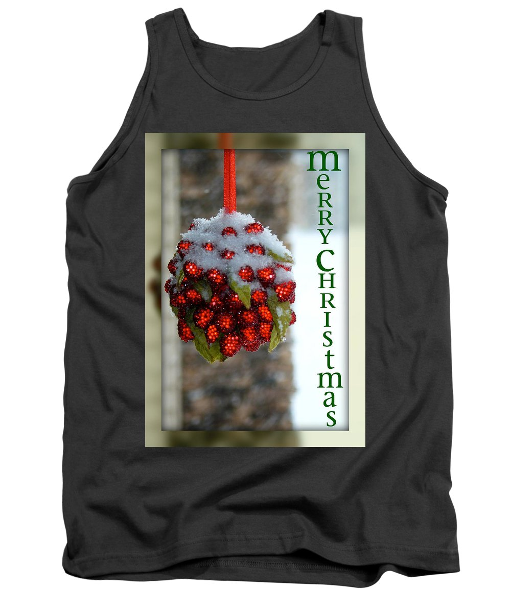 Merry Christmas Tank Top featuring the photograph Merry Christmas by Lisa Knechtel