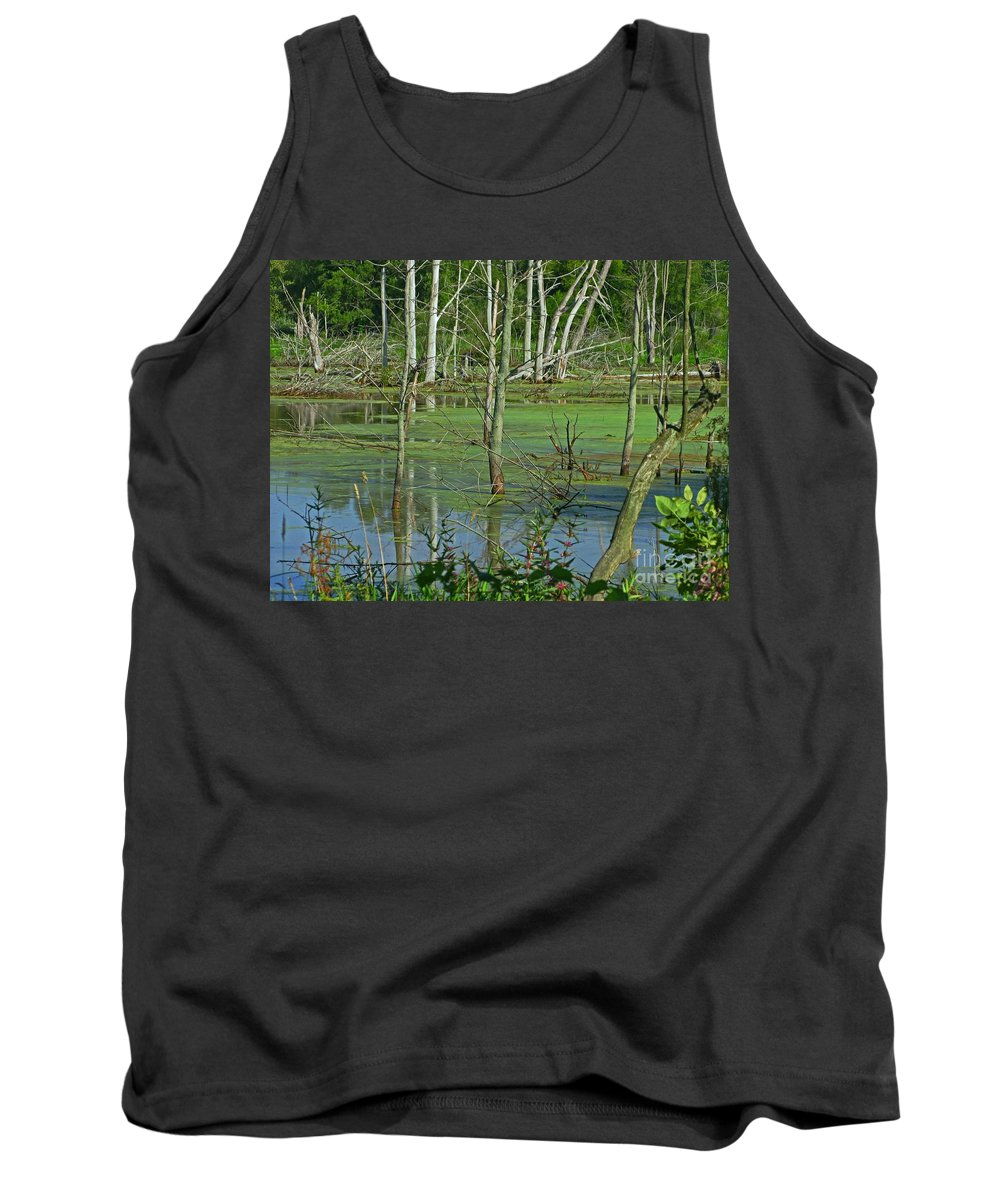 Marsh Tank Top featuring the photograph Messy Beauty by Ann Horn