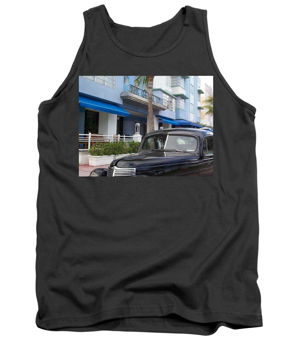 Charity Tank Top featuring the photograph Miami Beach by Mary-Lee Sanders