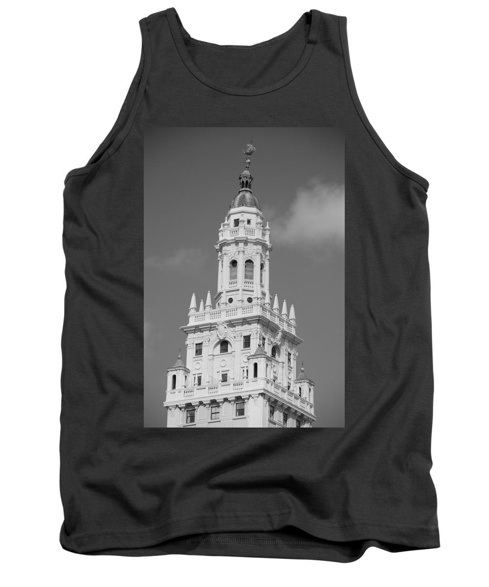 Architecture Tank Top featuring the photograph Miami Tower by Rob Hans