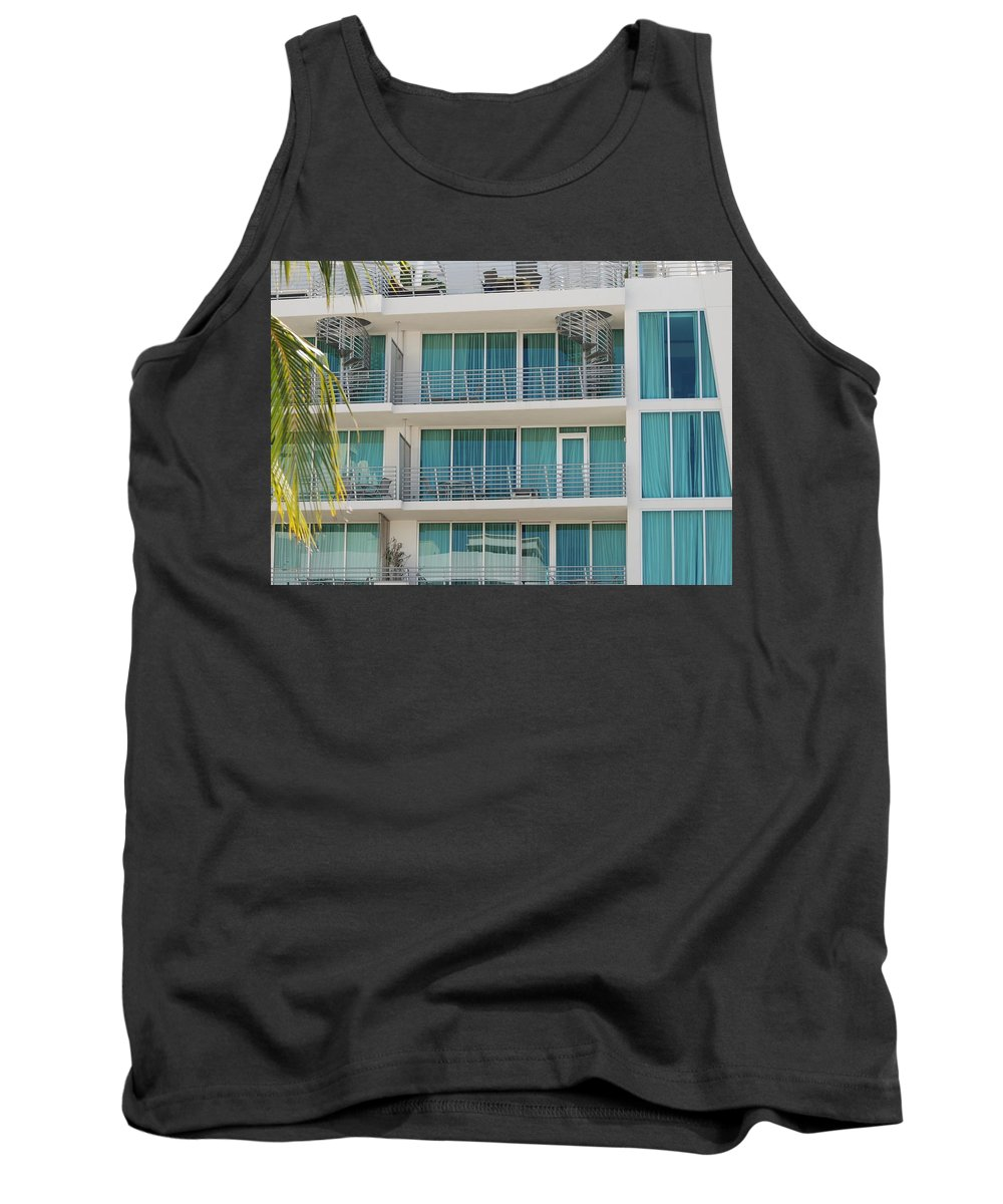 Architecture Tank Top featuring the photograph Miami Vice by Rob Hans