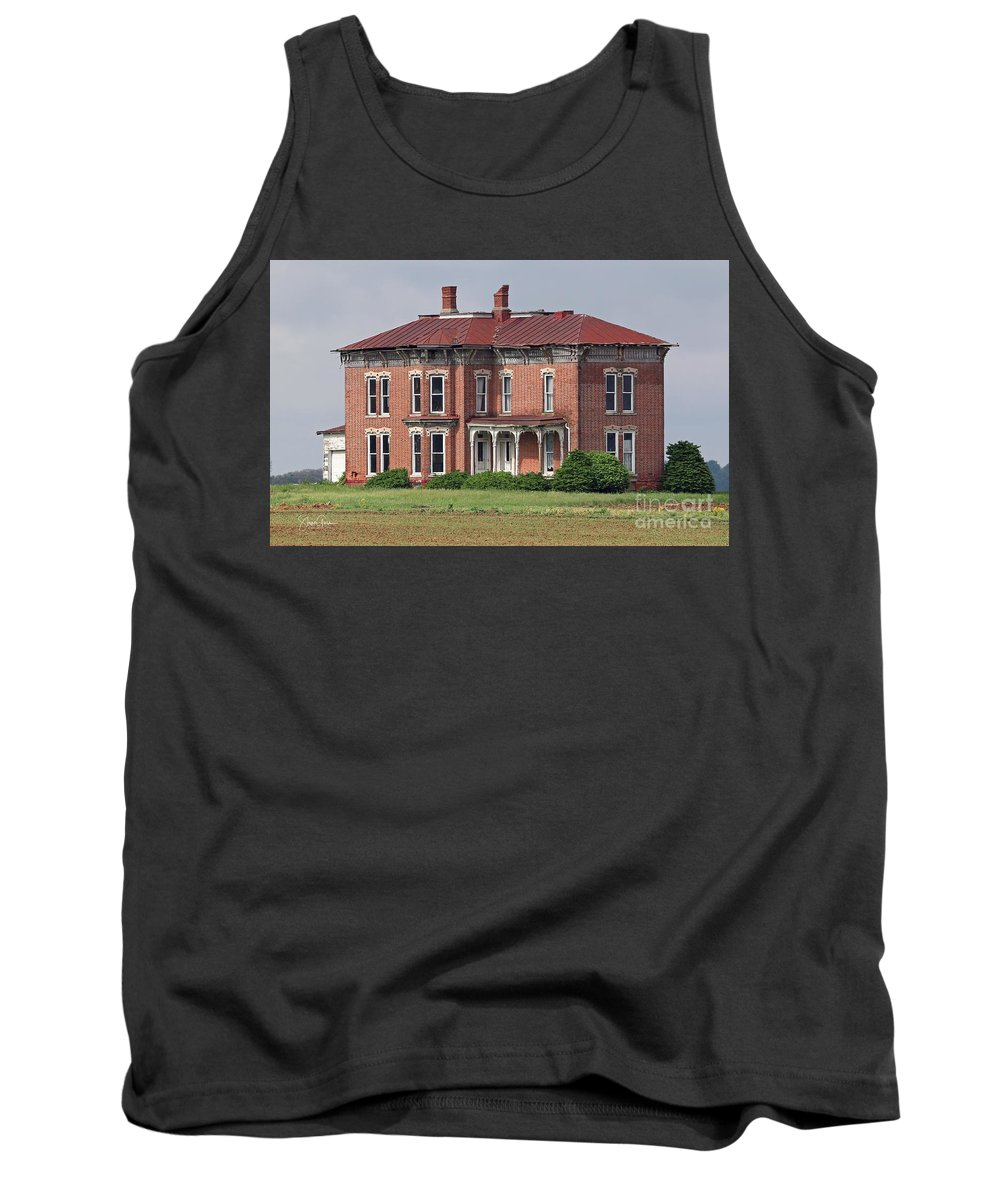 Abandoned Tank Top featuring the photograph Middle Of Nowhere 3 by Steve Gass