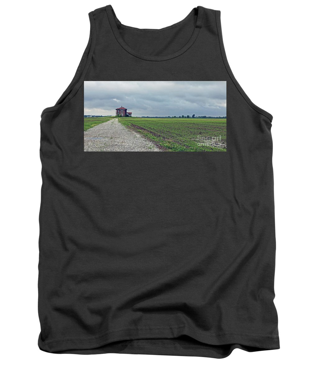 Abandoned Tank Top featuring the photograph Middle Of Nowhere 4 by Steve Gass