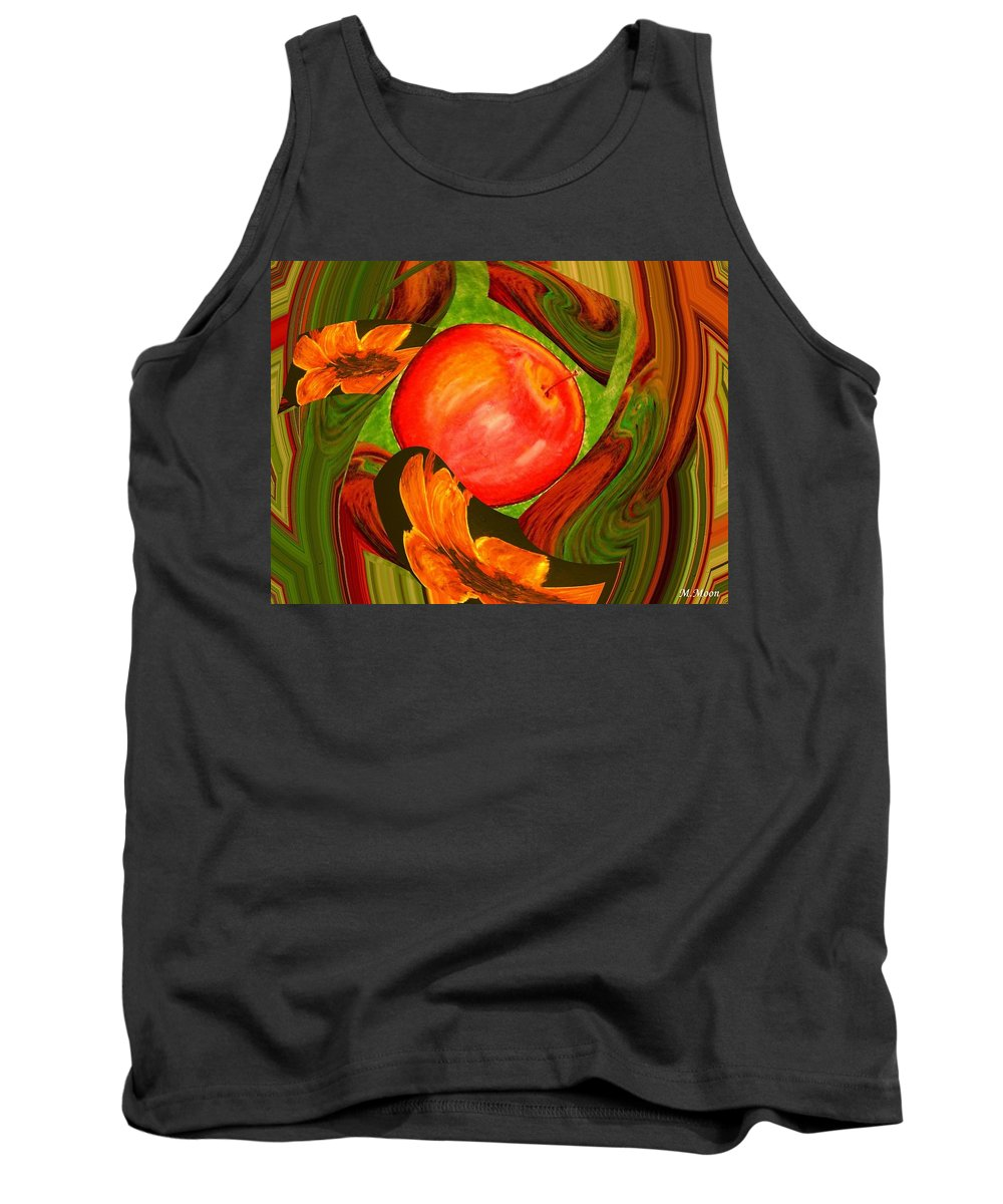 Apple Tank Top featuring the digital art Middle Of The Garden by Melvin Moon