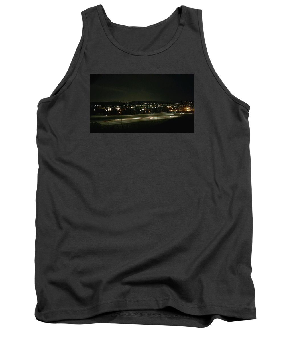 Mountains Tank Top featuring the photograph Midnight Lights by Shawna Salgado