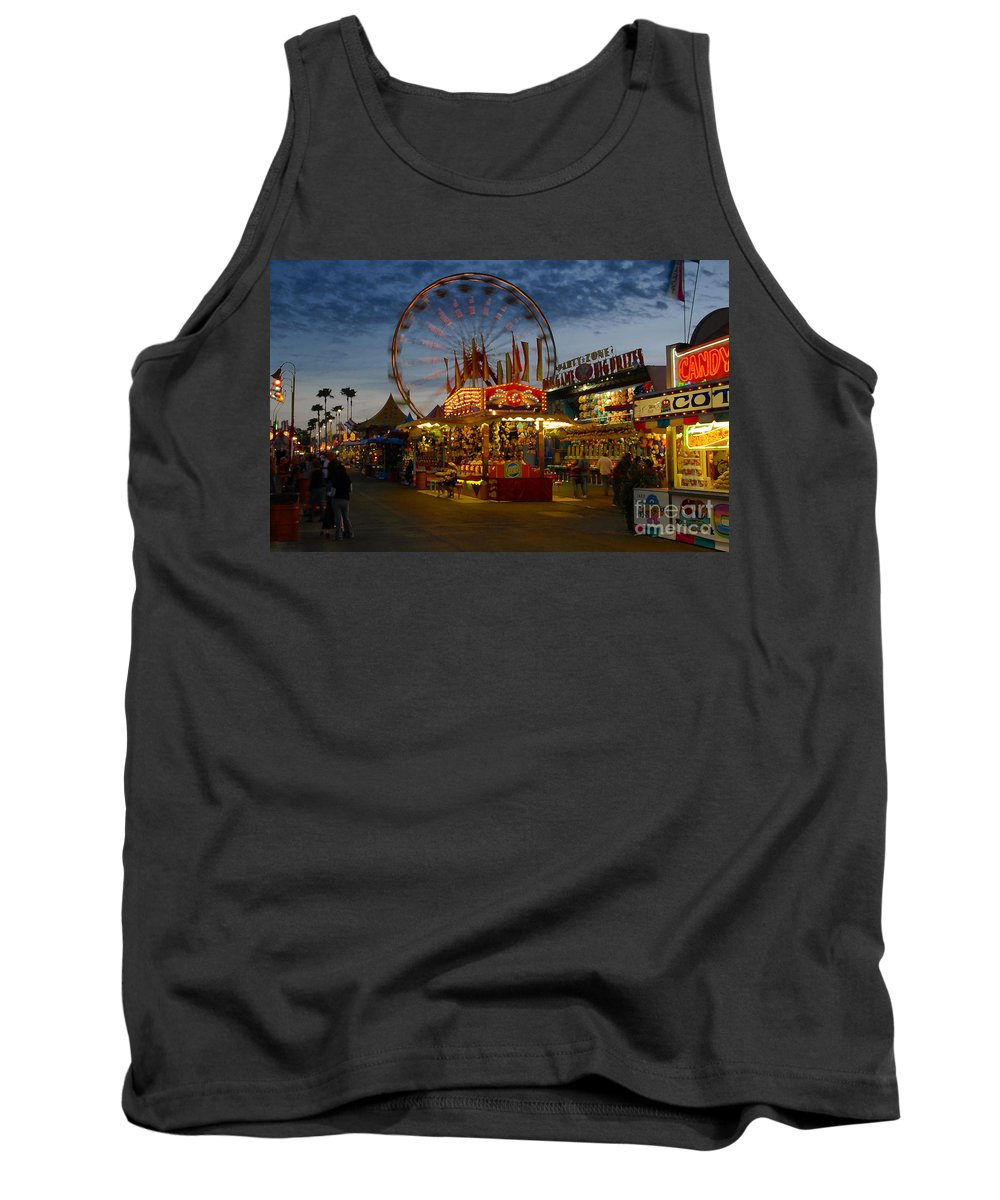 Midway Tank Top featuring the photograph Midway by David Lee Thompson