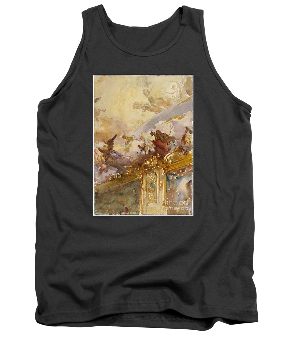 Tiepolo Ceiling Tank Top featuring the painting Milan by Celestial Images