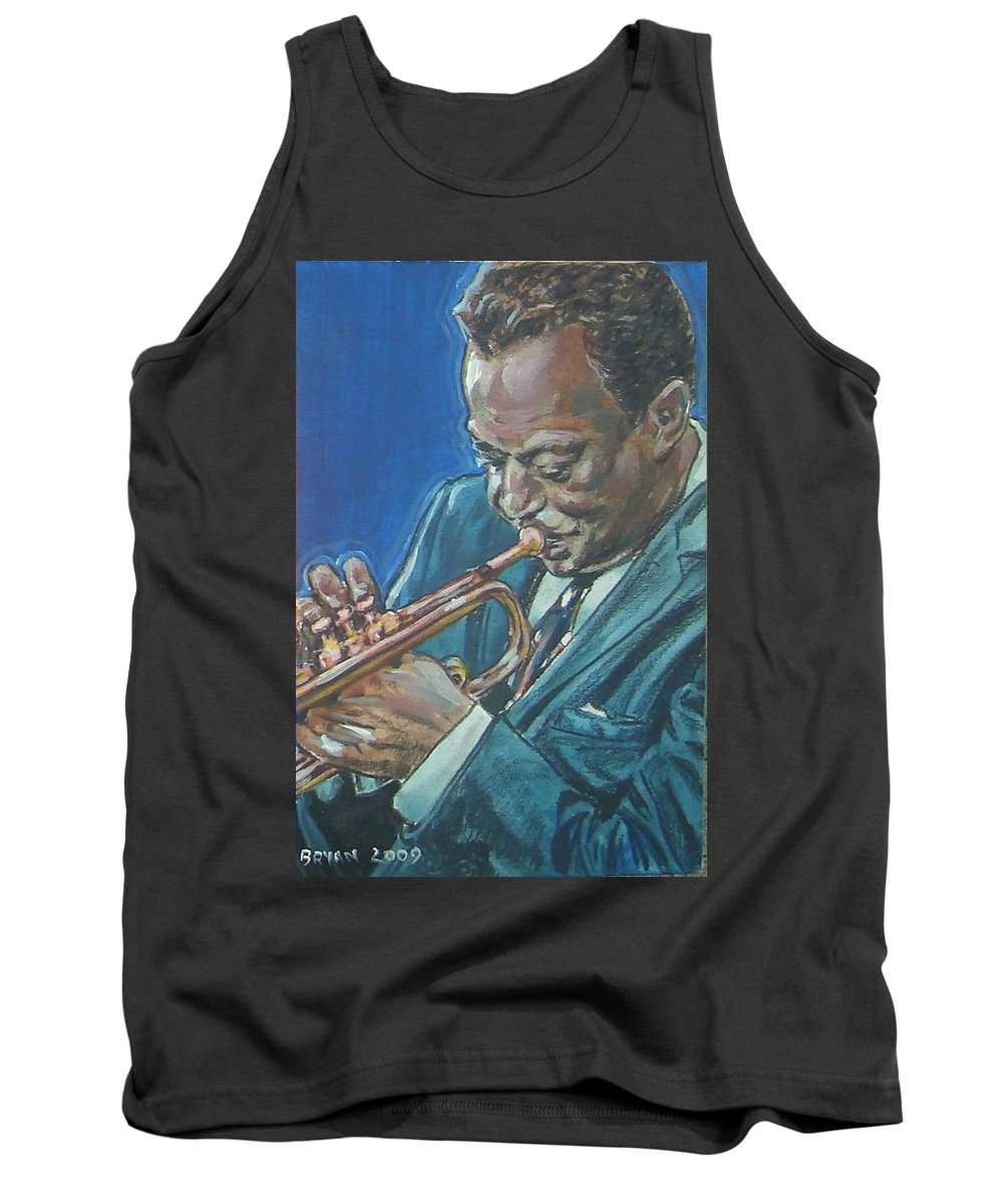 Miles Davis Tank Top featuring the painting Miles Davis by Bryan Bustard