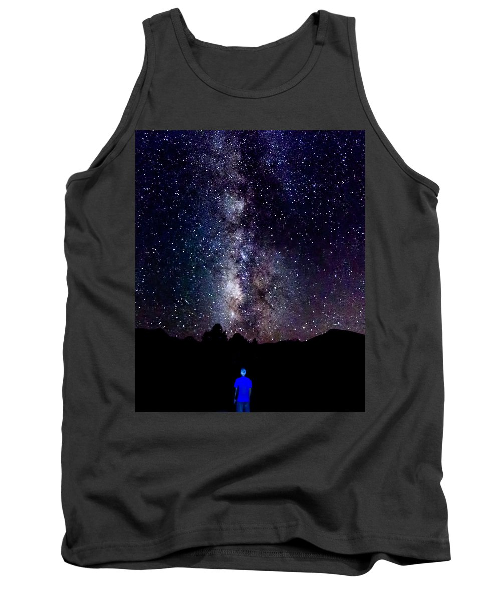 2017 Tank Top featuring the photograph Milky Way 9962 by Deidre Elzer-Lento
