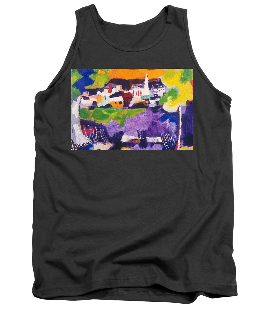 Mill Pond Tank Top featuring the painting Mill Pond In Summer by Betty Pieper