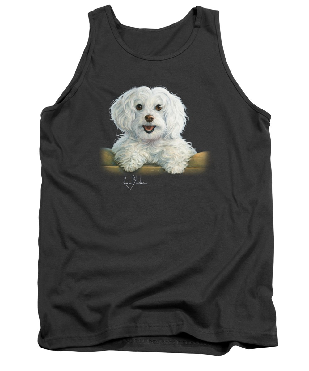 Dog Tank Top featuring the painting Mimi by Lucie Bilodeau