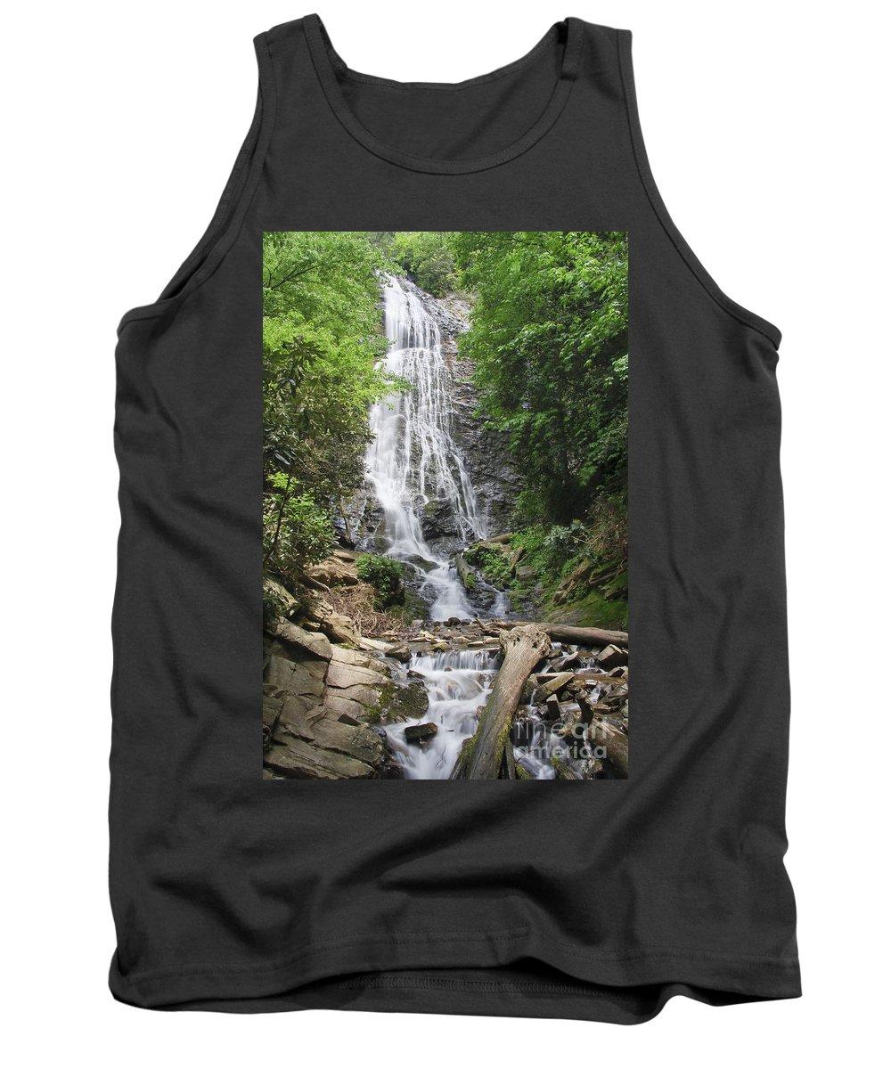 Mingo Tank Top featuring the photograph Mingo Falls In North Carolina by Jill Lang