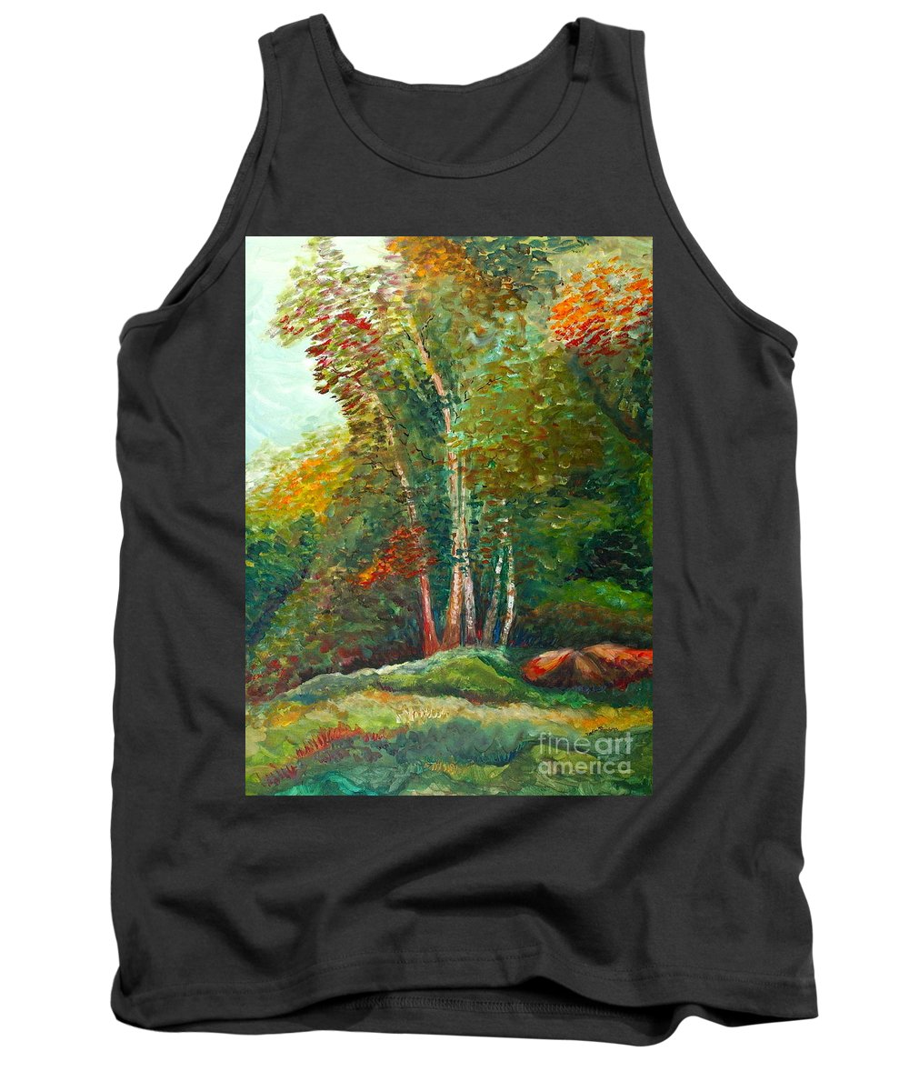 Landscape Tank Top featuring the painting Minnesota Quartet by Nadine Rippelmeyer