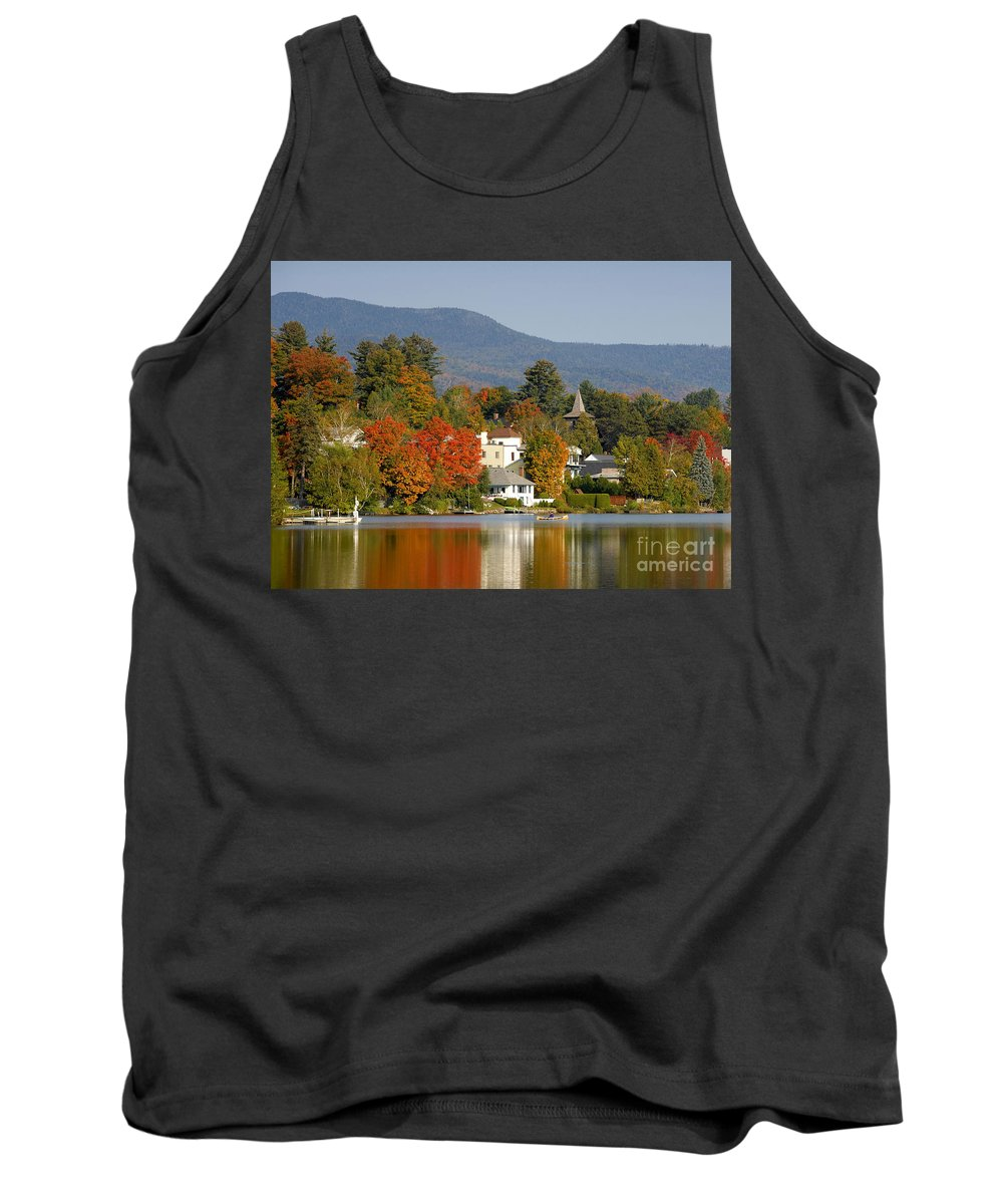 Adirondack Mountains Tank Top featuring the photograph Mirror Lake by David Lee Thompson