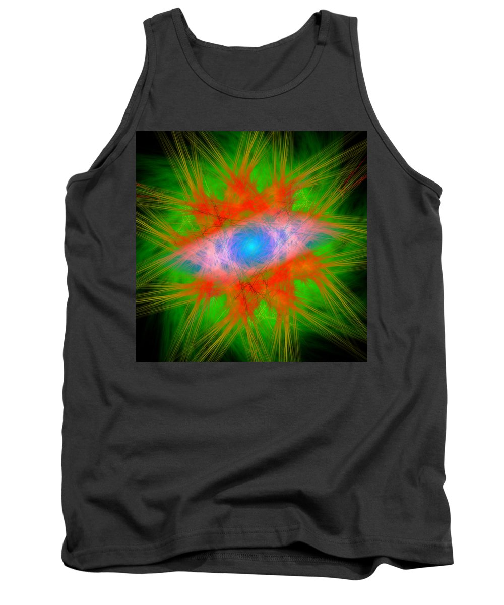 Abstract Tank Top featuring the digital art Misfitters by Andrew Kotlinski