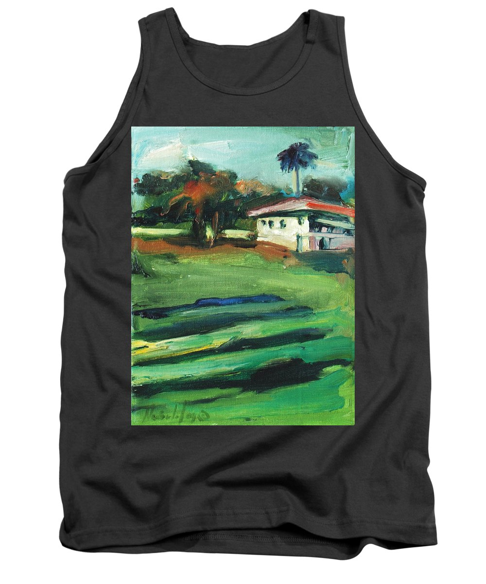 Cityscape Tank Top featuring the painting Mission Dolores by Rick Nederlof