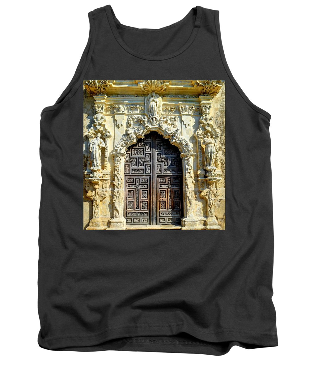 San Jose Tank Top featuring the photograph Mission Door by David Morefield