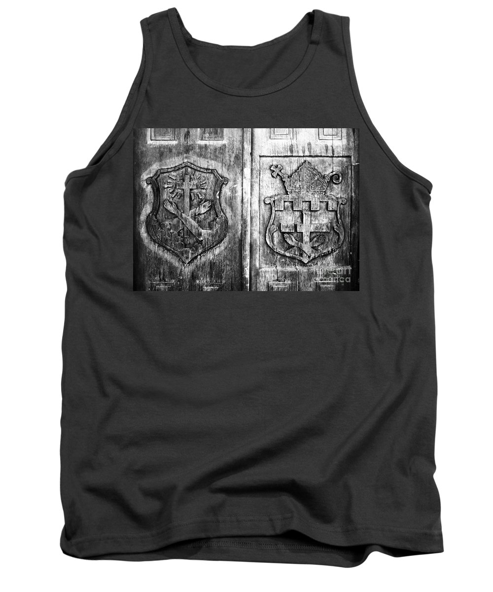 Mission Tank Top featuring the photograph Mission Doors by David Lee Thompson