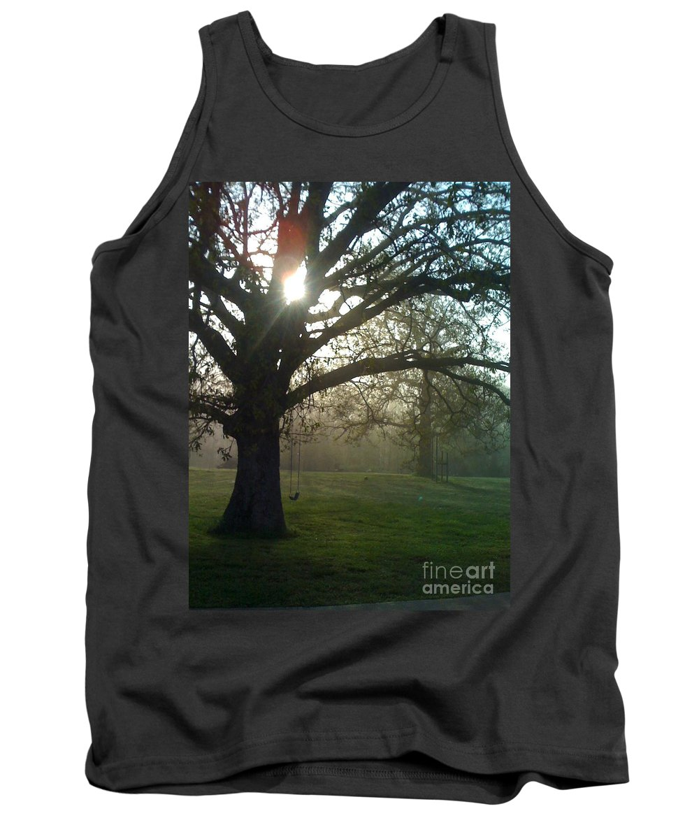 Mist Tank Top featuring the photograph Misty Morning by Nadine Rippelmeyer