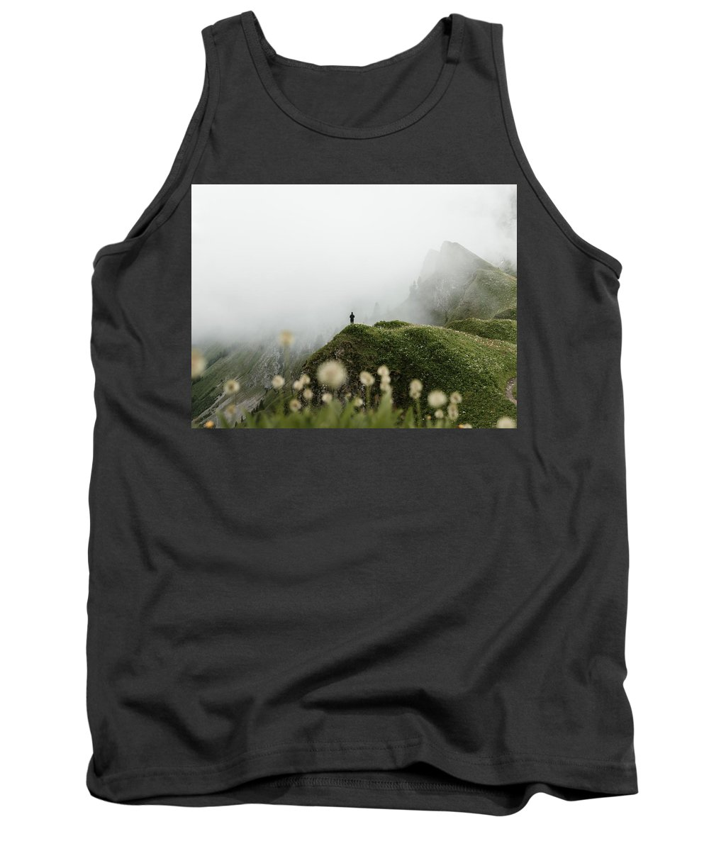 Mountain Tank Top featuring the photograph Misty Mountain View by Marina Weishaupt