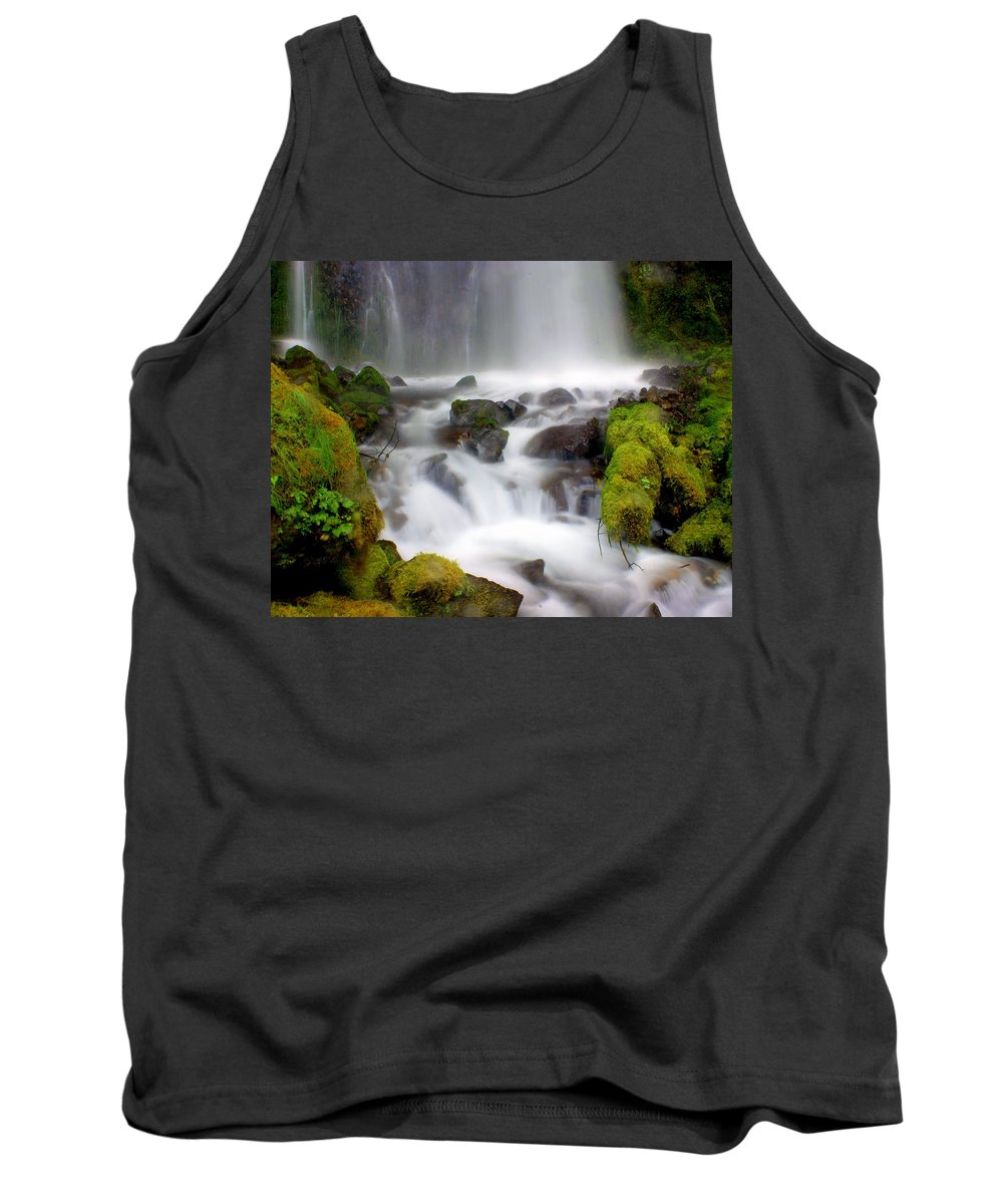 Waterfall Tank Top featuring the photograph Misty Waters by Marty Koch