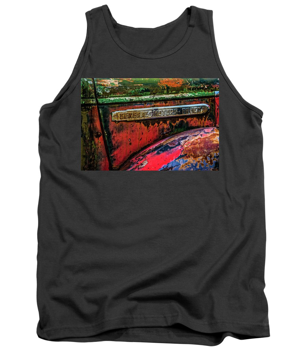 Gm Tank Top featuring the photograph Molson Gm Truck by Ed Broberg