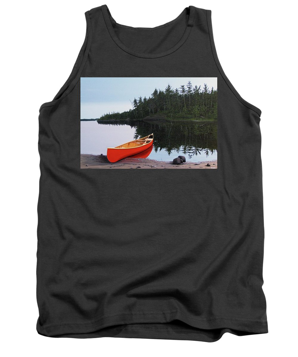 Landscapes Tank Top featuring the painting Moments Of Peace by Kenneth M Kirsch
