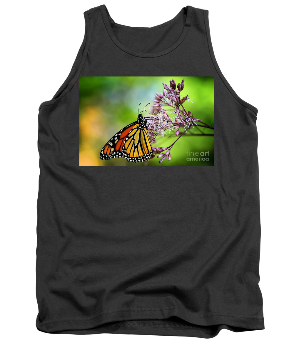 Monarch Tank Top featuring the photograph Monarch by Lois Bryan