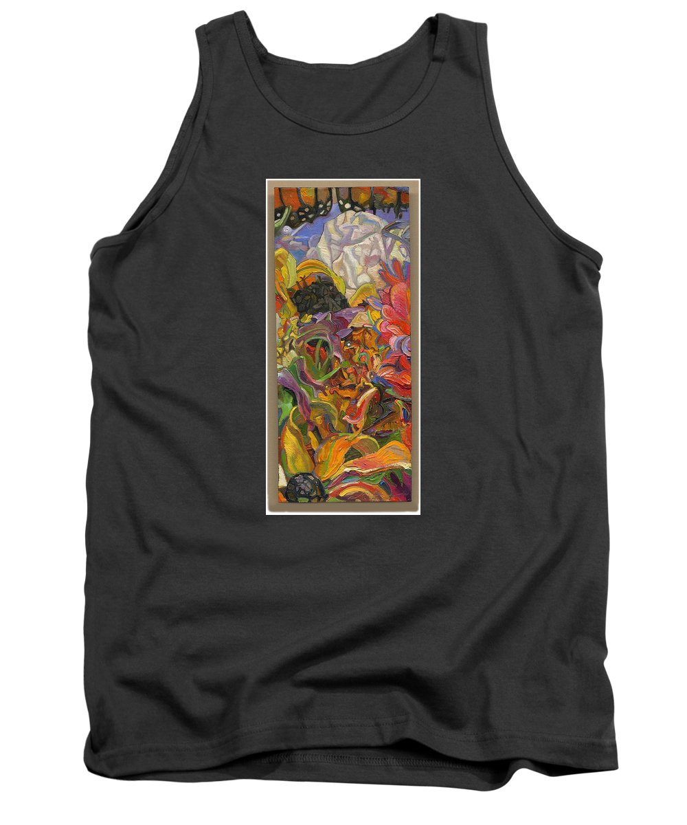 Flowers Tank Top featuring the painting Monarch Mountain by Juel Grant