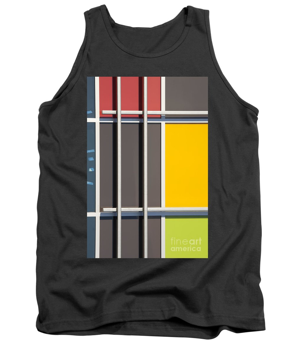 Mondrian Tank Top featuring the photograph Mondrian Style by Chris Dutton