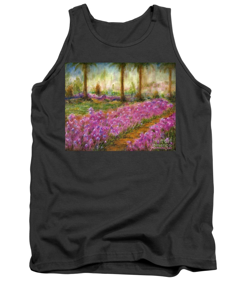 Monet Tank Top featuring the painting Monet's Garden In Cannes by Jerome Stumphauzer
