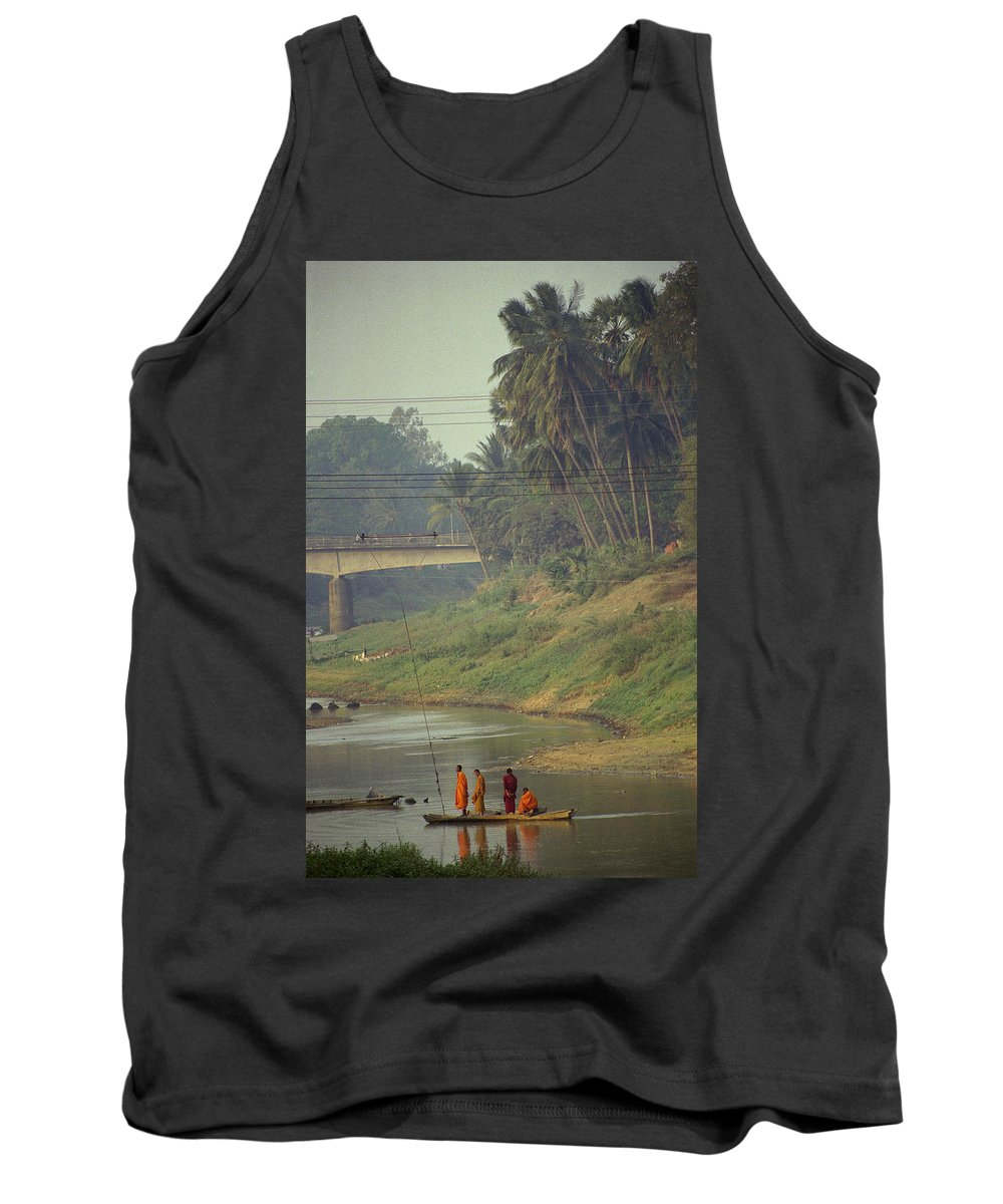 Monks Tank Top featuring the photograph Monks - Battambang by Patrick Klauss