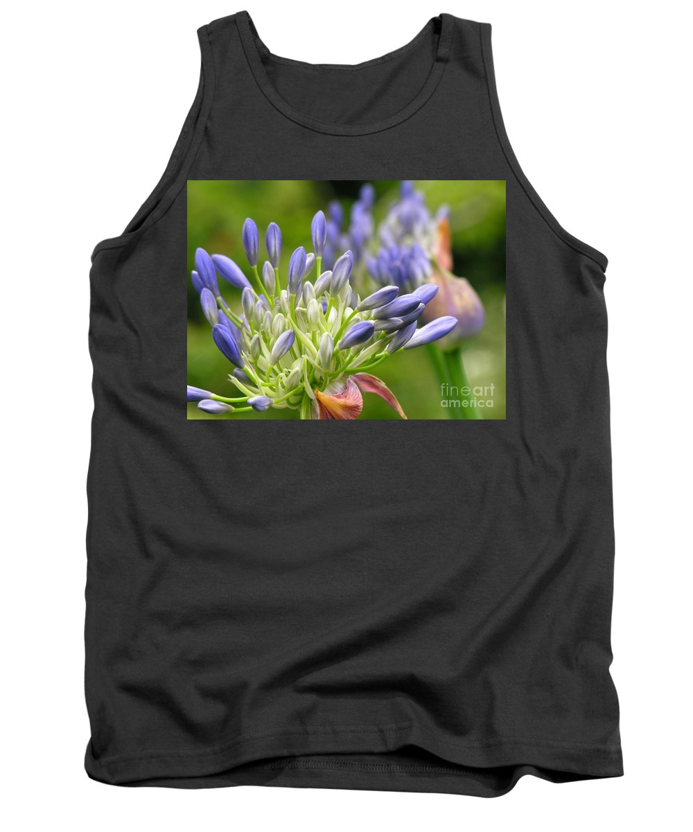 Blue Tank Top featuring the photograph Montana Purple And Blue by Diane Greco-Lesser