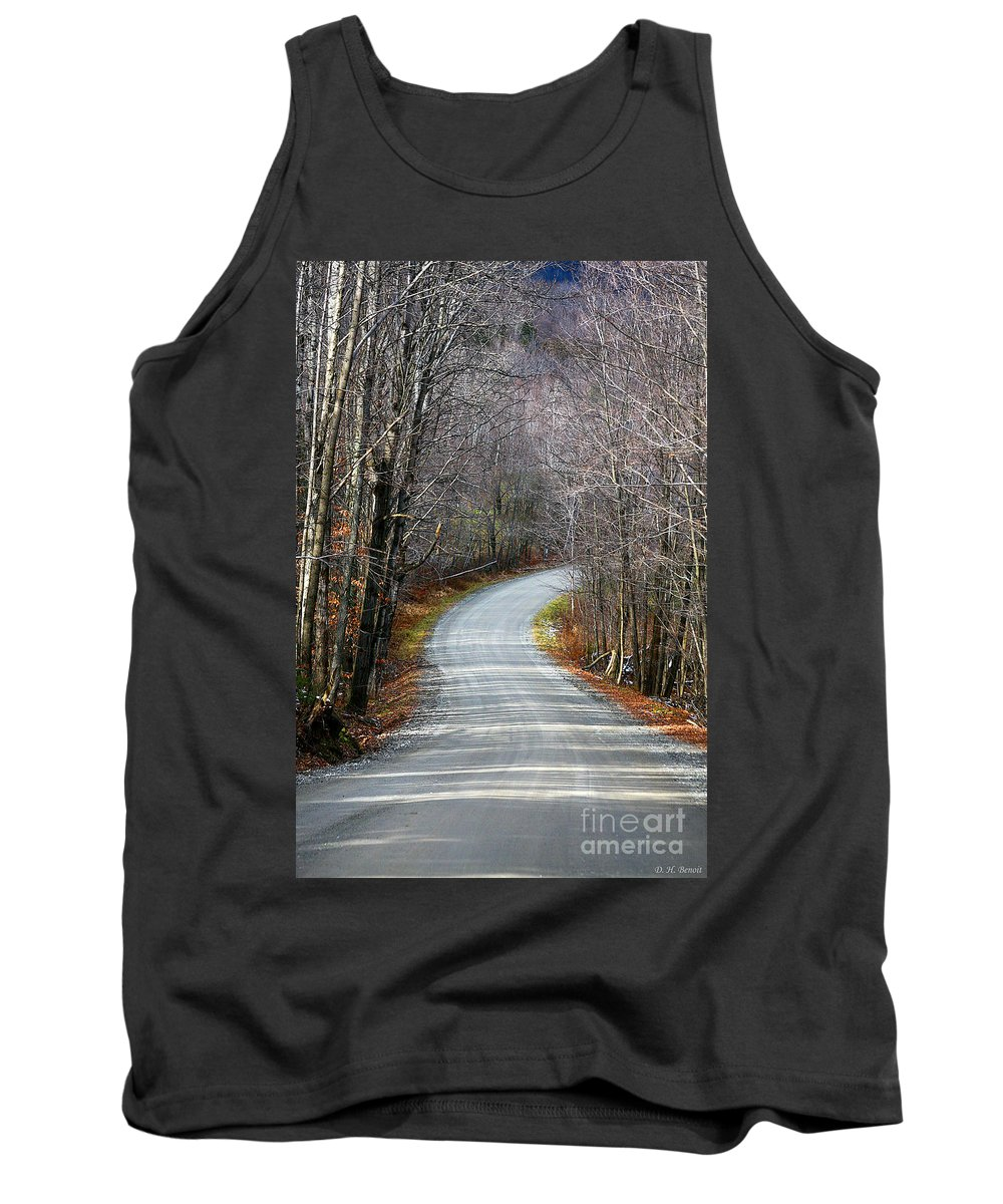 Road Tank Top featuring the photograph Montgomery Mountain Road by Deborah Benoit