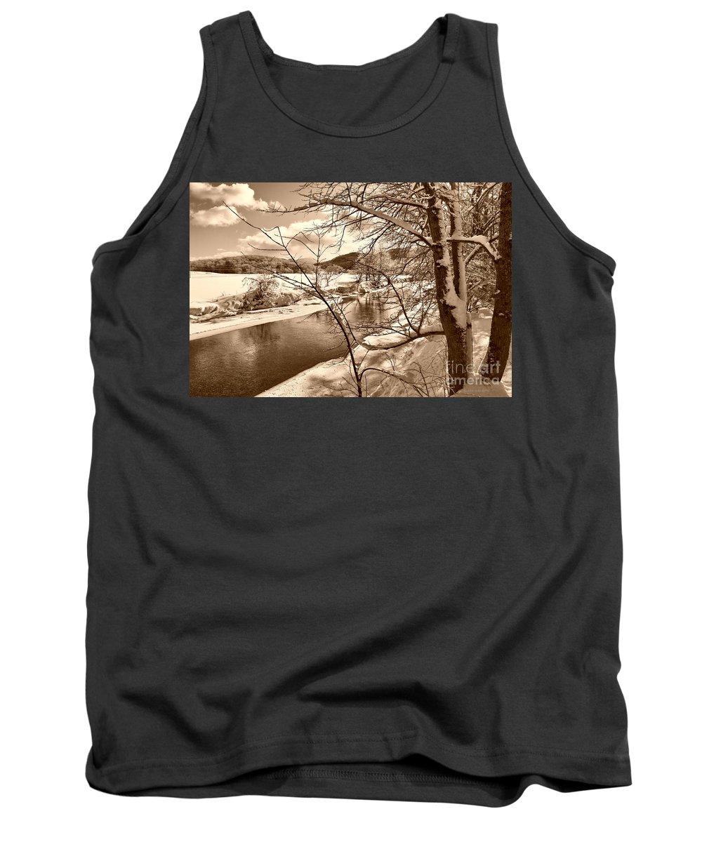 Brook Tank Top featuring the photograph Mood Of Winter by Deborah Benoit
