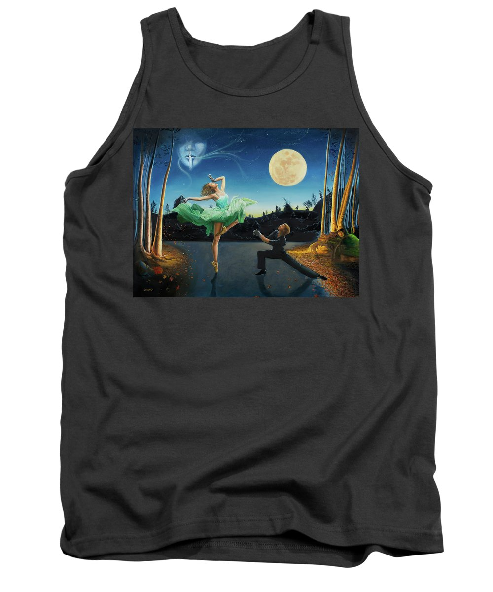 Moondance Tank Top featuring the painting Moondance by Loretta McNair