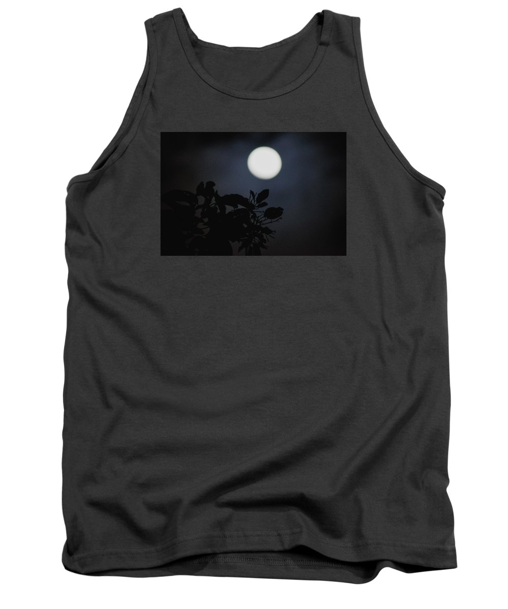 The Moon Tank Top featuring the photograph Moonlight And Tree 1 by Totto Ponce