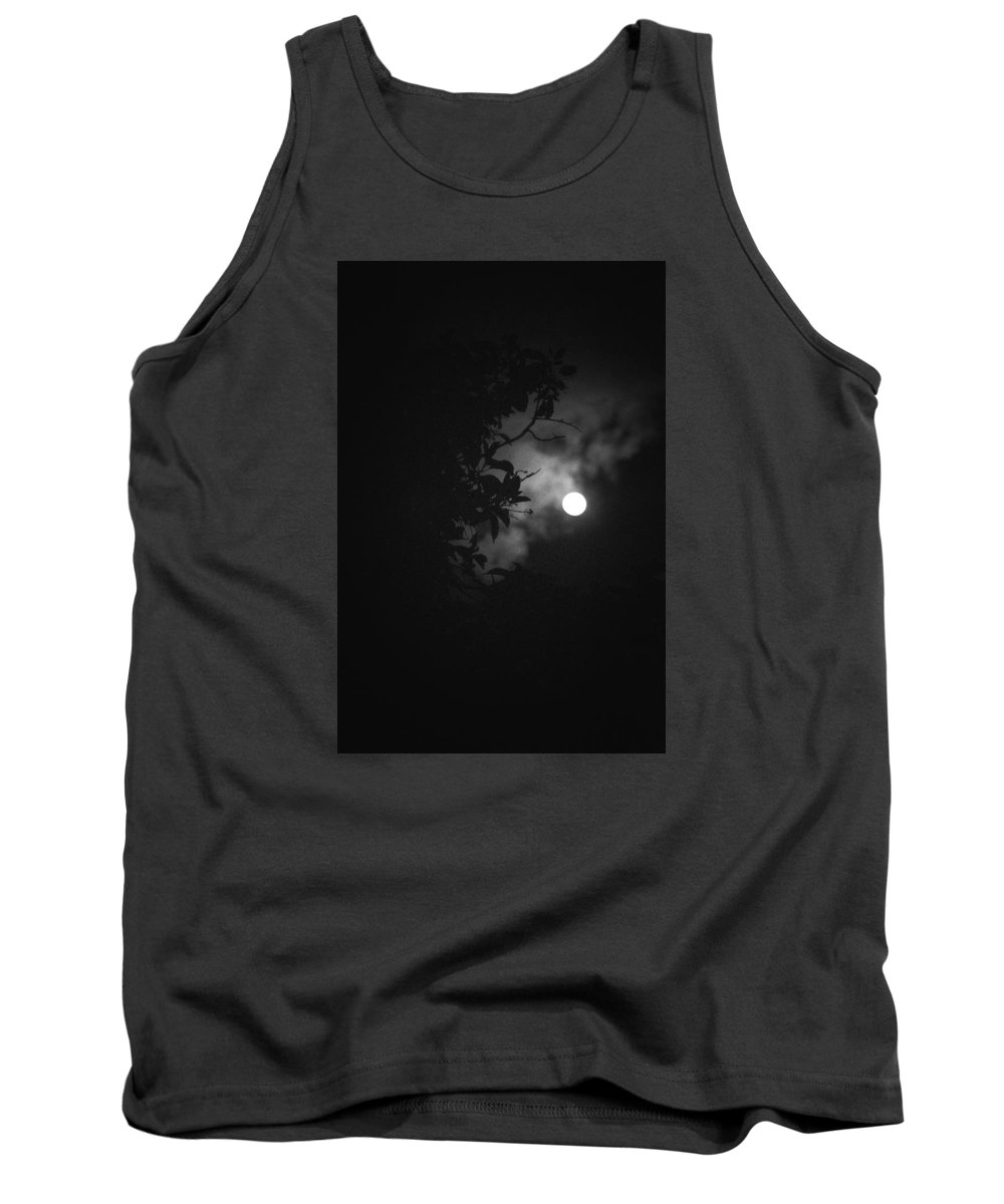 The Moon Tank Top featuring the photograph Moonlight And Tree by Totto Ponce