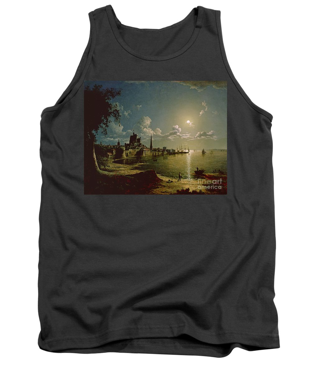 Moonlight Tank Top featuring the painting Moonlight Scene by Sebastian Pether