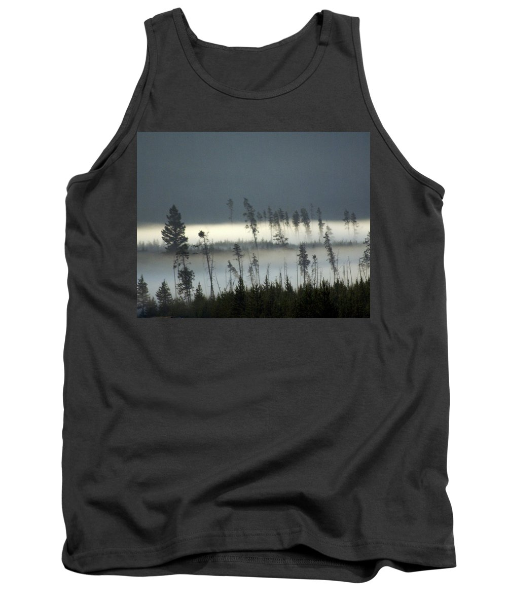 Yellowstone National Park Tank Top featuring the photograph Morning Along The Madison by Marty Koch