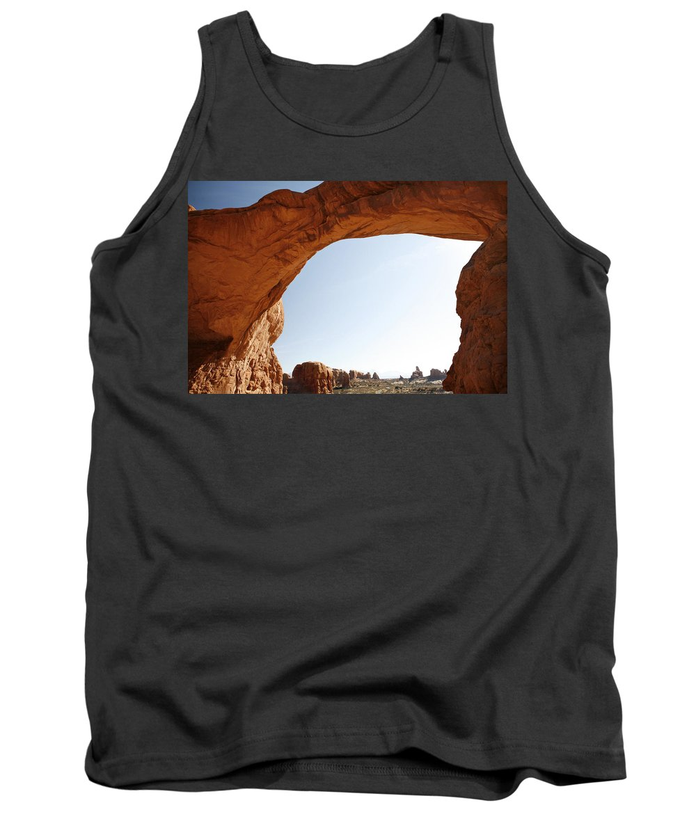 Arch Tank Top featuring the photograph Morning Arch by Marilyn Hunt