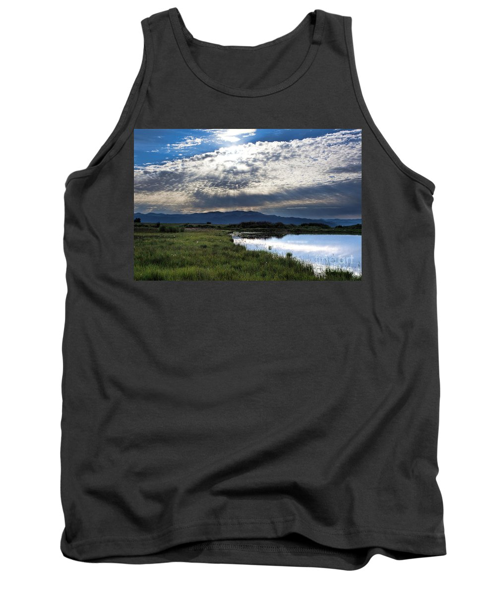 Sun Rays Tank Top featuring the photograph Morning Glory by Jim Garrison
